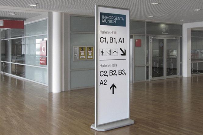 Übersichtpläne, Schilder, Wegleitsysteme, Hallenwegführung, Digitaldruck und Werbetechnik Rudolf Lang in München