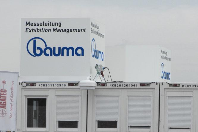Digitaldruck und Werbetechnik Beispiel BAUMA Messe