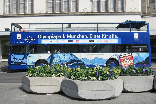 Verkehrsmittelbeschriftung am Beispiel : BUS München