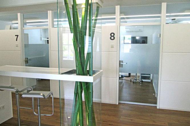 Sichtschutz Behandlungsräume Raumnummerierung
